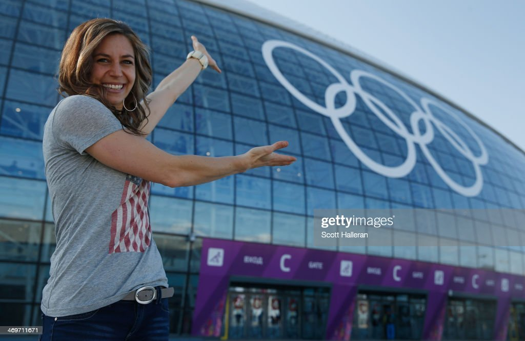 Noelle PikusPace of the USA Skelton team poses in the Olympic Park during the Sochi 2014 Winter Olympics on February 15 2014 in Sochi Russia