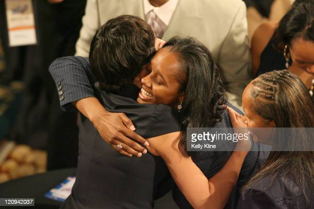 Noelle Quinn of UCLA is selected as the fourth overall pick during the 2007 WNBA Draft at the Renissance Hotel Cleveland Ohio on April 4 2007
