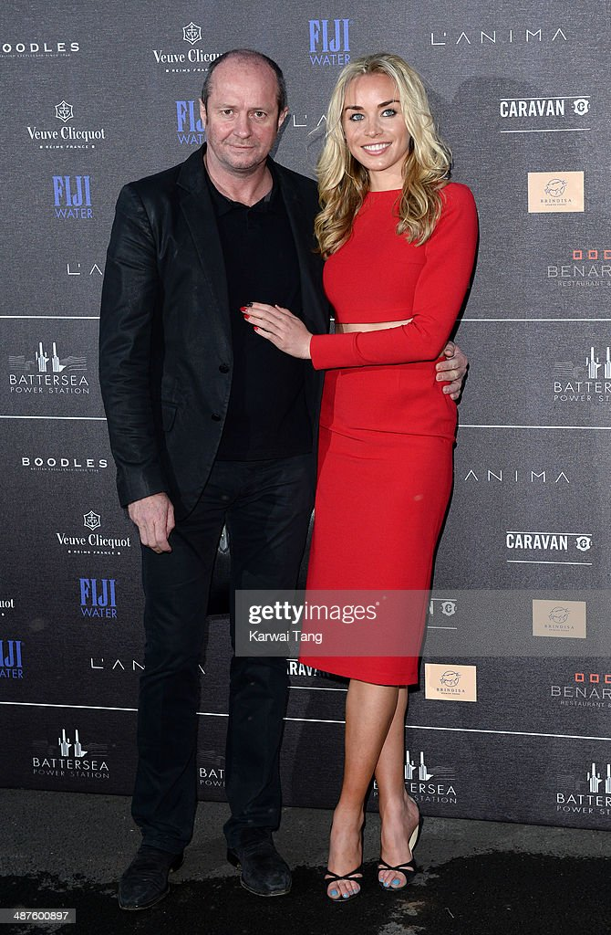 Noelle Reno and Scot Young attend the inaugural Battersea Power Station annual party held at Battersea Power station on April 30, 2014 in London, England.