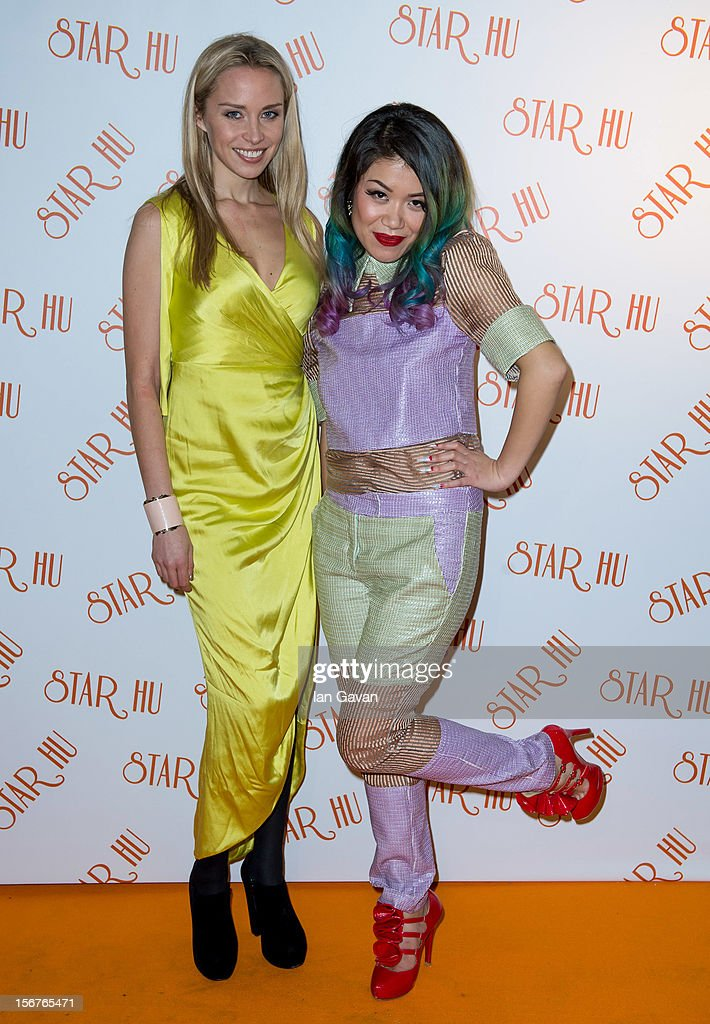 Noelle Reno (L) and Star Hu attend the Star Hu store launch party on November 20, 2012 in London, United Kingdom.
