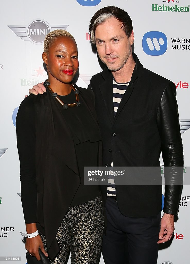 Noelle Scaggs and Michael Fitzpatrick attend the Warner Music Group 2013 Grammy Celebration Presented By Mini held at Chateau Marmont on February 10, 2013 in Los Angeles, California.