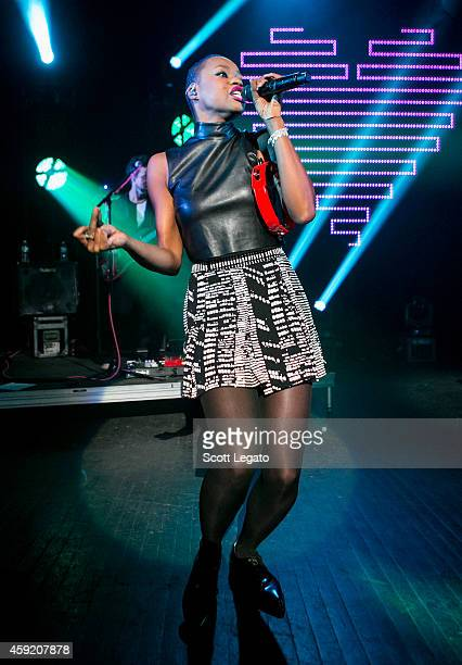 Noelle Scaggs of Fitz and the Tantrums performs during the 89X And 939 The River's Fall Ball at The Fillmore on November 18 2014 in Detroit Michigan