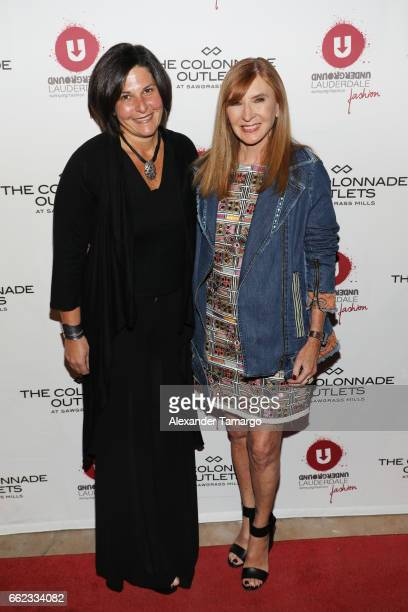 Noelle Stevenson and designer Nicole Miller attend The Nicole Miller 2017 Spring Collection At The Underground Lauderdale Fashion Weekend Brought To...