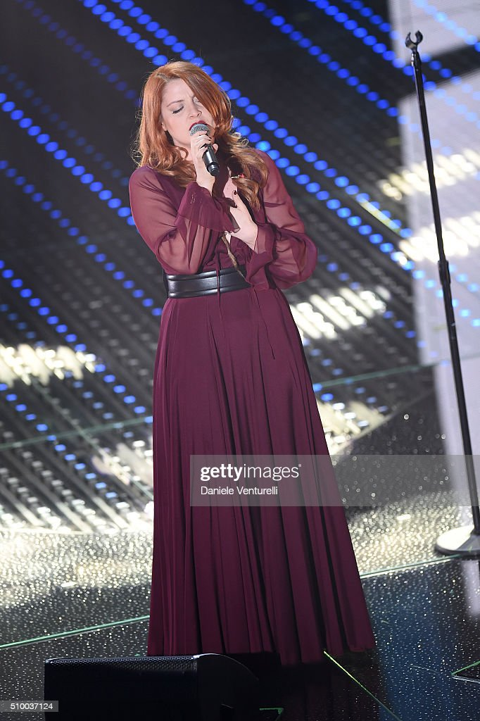 Noemi attends the closing night of 66th Festival di Sanremo 2016 at Teatro Ariston on February 13, 2016 in Sanremo, Italy.