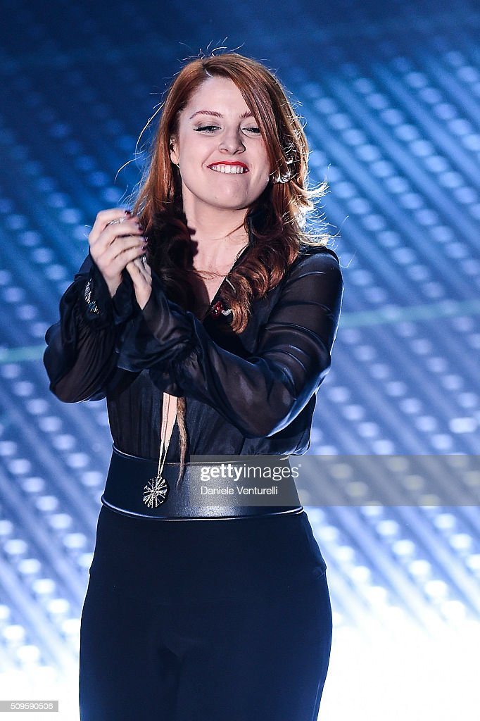 Noemi attends the third night of the 66th Festival di Sanremo 2016 at Teatro Ariston on February 11, 2016 in Sanremo, Italy.