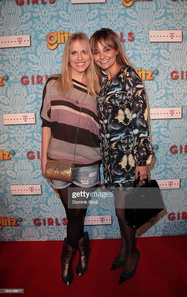 Noemi Matsutani with friend attend 'Girls' preview event of TV channel glitz* at Hotel Bayerischer Hof on October 16, 2012 in Munich, Germany. The series premieres on October 17, 2012 (every Wednesday at 9:10 pm on glitz*).