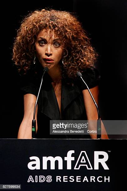 Noemie Lenoir attends the Amfar Aids Research gala and auction in Milan