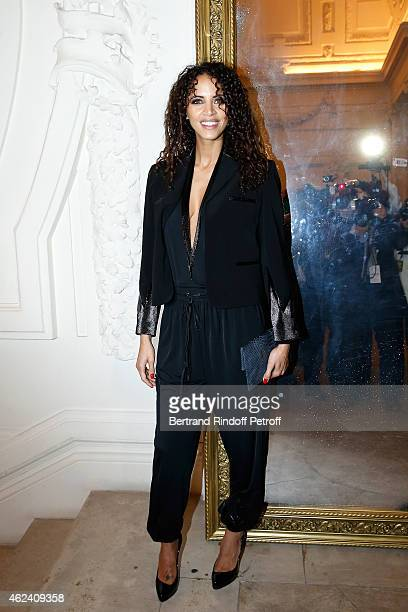 Noemie Lenoir attends the Jean Paul Gaultier show as part of Paris Fashion Week Haute Couture Spring/Summer 2015 on January 28 2015 in Paris France