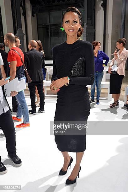 Noemie Lenoir attends the John Galliano show as part of the Paris Fashion Week Womenswear Spring/Summer 2015 John Galliano Runway Paris Fashion Week...