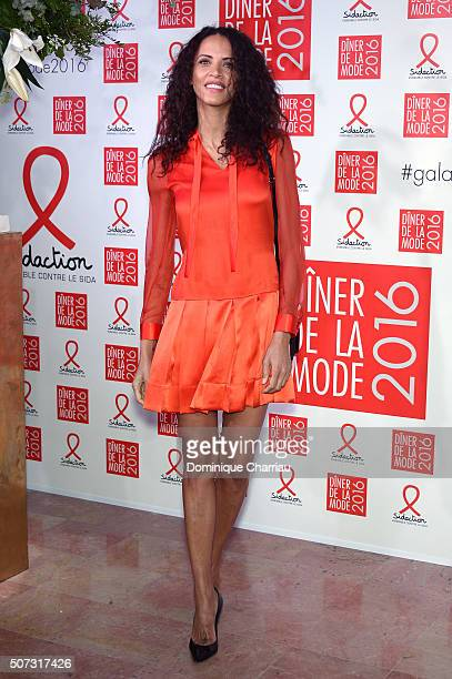 Noemie Lenoir attends the Sidaction Gala Dinner 2016 as part of Paris Fashion Week on January 28 2016 in Paris France