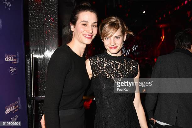 Noemie Schmidt and Elisa lasowski attend the Photocall at the Queen Club After The Cesar Film Award Ceremony Cesar Film Awards 2016 on February 26...