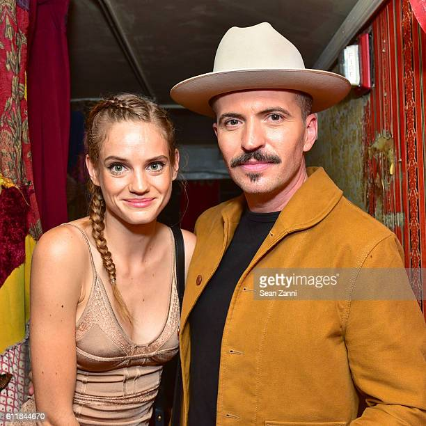 Noemie Schmidt and Tygh Runyan attend Ovation TV Celebrates the October 1st Premiere of the HighlyAnticipated Drama Versailles at a Louis XIVThemed...