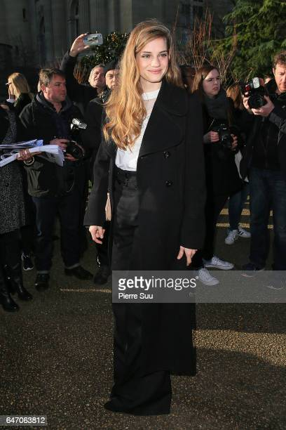 Noemie Schmidt arrives at the Chloe show as part of the Paris Fashion Week Womenswear Fall/Winter 2017/2018 on March 2 2017 in Paris France