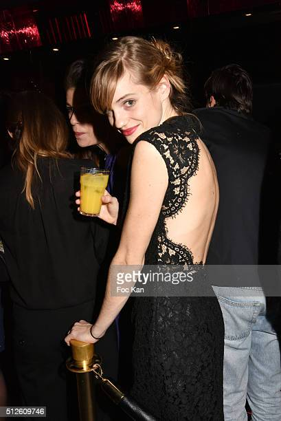 Noemie Schmidt attends a photocall at the Queen Club after The Cesar Film Awards 2016 on February 26 2016 in Paris France