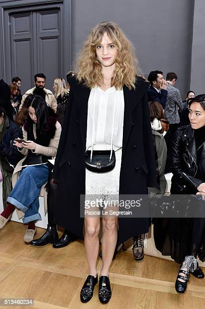 Noemie Schmidt attends the Chloe show as part of the Paris Fashion Week Womenswear Fall/Winter 2016/2017 on March 3 2016 in Paris France