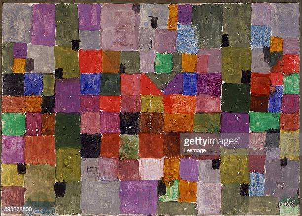 Noerdlicher Ort by Paul Klee 18791940 Watercolour on chalk priming on paper bordered on gouache and pen mounted on cardboard 285 x 371 cm 1923...