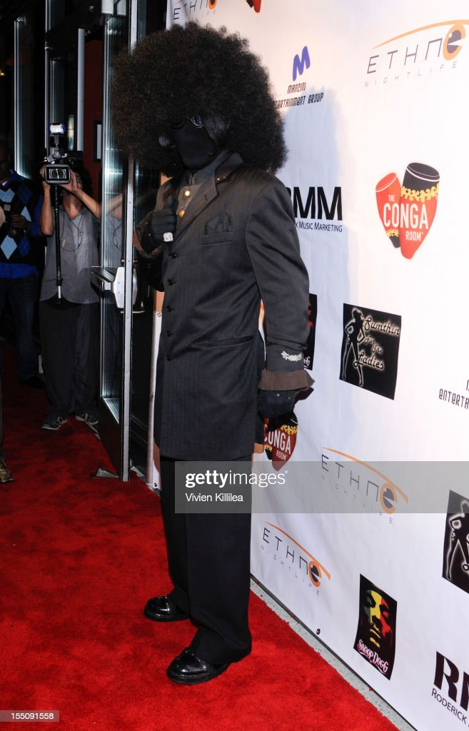 No-Face attends Los Angeles Clipper Matt Barnes' 'Welcome Back To LA' Post-Game Halloween Party at The Conga Room at L.A. Live on October 31, 2012 in Los Angeles, California.
