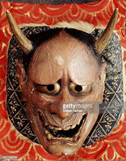 Noh mask representing a demon Hannya Japan Japanese 1280