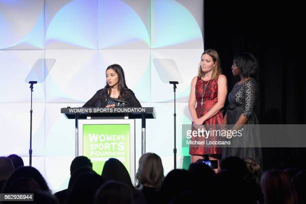 Nohemy Salomon Grete Eliassen and Millie Madourie attend The Women's Sports Foundation's 38th Annual Salute To Women in Sports Awards Gala on October...