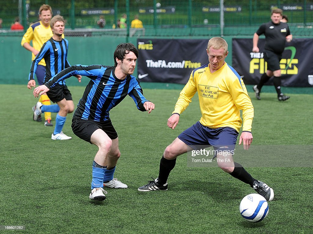 FC Nohopenhagen and Spillsys Warriors in action during the FA Fives at Power League Community on May 12, 2013 in Basingstoke, England.