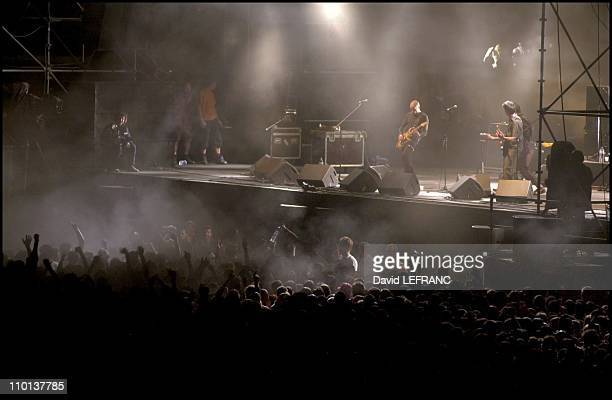 Noir Desir concert at the 'Vieilles Charrues' festival in Carhaix France on July 22 2001