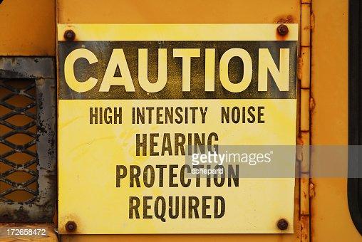 Noise Caution Sign
