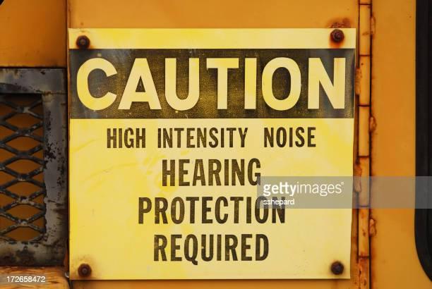 Lärm Vorsicht Zeichen