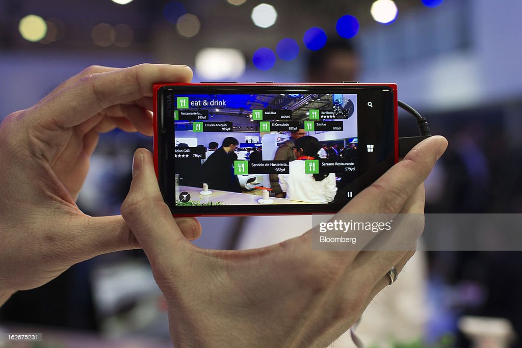 A Nokia 920 smartphone is displayed for a photograph at the Mobile World Congress in Barcelona, Spain, on Monday, Feb. 25, 2013. The Mobile World Congress, where 1,500 exhibitors converge to discuss the future of wireless communication, is a global showcase for the mobile technology industry and runs from Feb. 25 through Feb. 28. Photographer: Angel Navarrete/Bloomberg via Getty Images