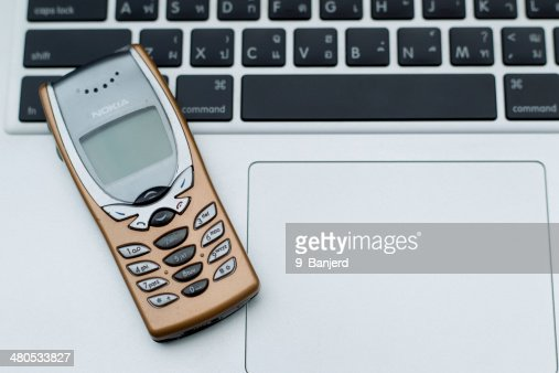 Nokia and Macbook : Stock Photo