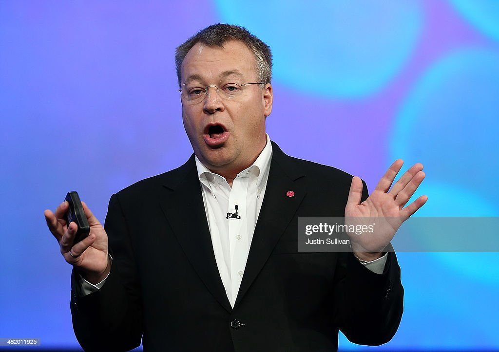 Nokia executive vice president <a gi-track='captionPersonalityLinkClicked' href=/galleries/search?phrase=Stephen+Elop&family=editorial&specificpeople=7180953 ng-click='$event.stopPropagation()'>Stephen Elop</a> speaks during a keynote address during the 2014 Microsoft Build developer conference on April 2, 2014 in San Francisco, California. The 2014 Microsoft Build developer conference runs through April 4.