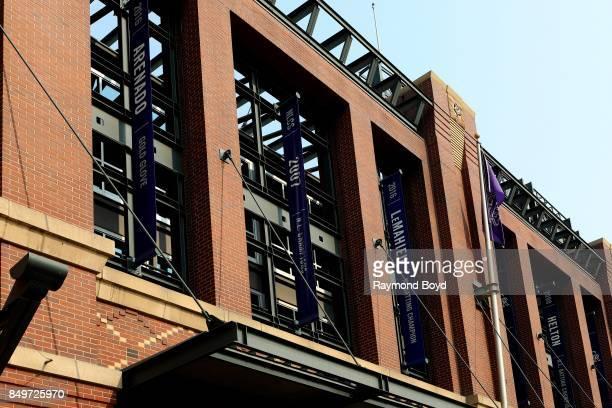 Nolan Arenado's '2016 Gold Glove' banner Colorado Rockies '2007 NLCS Champions' banner and David 'DJ' John LeMahieu's '2016 National League Batting...