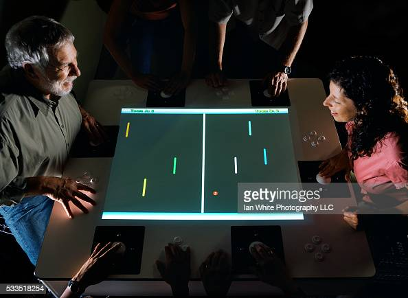 Nolan Bushnell plays multiplayer successor to Pong with daughter and publicist Alissa