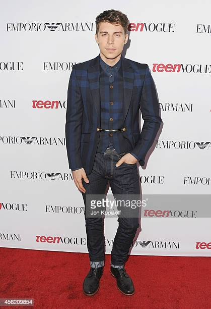 Nolan Gerard Funk arrives at the Teen Vogue Young Hollywood Party on September 26 2014 in Los Angeles California