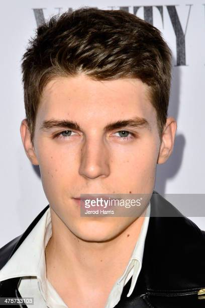 Nolan Gerard Funk attends the Vanity Fair Campaign Hollywood Kick Off at Sadie Kitchen and Lounge on February 28 2014 in Los Angeles California