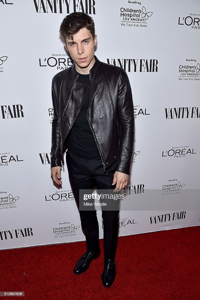 Nolan Gerard Funk attends Vanity Fair, L'Oreal Paris, & Hailee Steinfeld host DJ Night at Palihouse Holloway on February 26, 2016 in West Hollywood, California.
