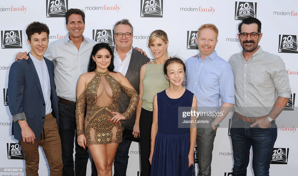 Nolan Gould, Steven Levitan, Ariel Winter, Eric Stonestreet, Julie Bowen, Aubrey Anderson-Emmons, Jesse Tyler Ferguson and Ty Burrell attend the 'Modern Family' ATAS event at Saban Media Center on May 3, 2017 in North Hollywood, California.