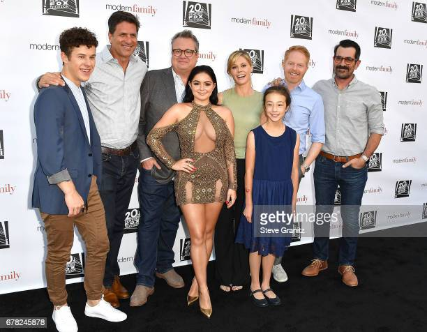 Nolan Gould Steven Levitan Ariel Winter Eric Stonestreet Julie Bowen Aubrey AndersonEmmons Jesse Tyler Ferguson and Ty Burrell arrives at the ABC's...