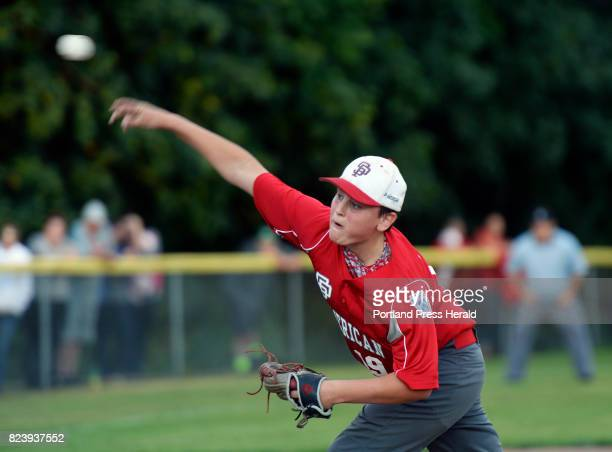 Nolan Hobbs of South Portland pitches against Lewiston in the Little League state championship game Thursday July 27 2017