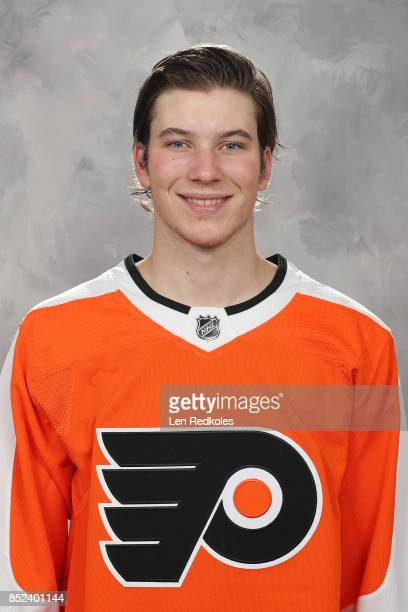 Nolan Patrick of the Philadelphia Flyers poses for his official headshot for the 20172018 season on September 14 2017 at the Virtua Flyers Skate Zone...