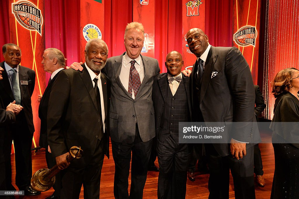 <a gi-track='captionPersonalityLinkClicked' href=/galleries/search?phrase=Nolan+Richardson&family=editorial&specificpeople=3522868 ng-click='$event.stopPropagation()'>Nolan Richardson</a>, <a gi-track='captionPersonalityLinkClicked' href=/galleries/search?phrase=Larry+Bird&family=editorial&specificpeople=202870 ng-click='$event.stopPropagation()'>Larry Bird</a>, Nate Tiny Archibald and <a gi-track='captionPersonalityLinkClicked' href=/galleries/search?phrase=Magic+Johnson&family=editorial&specificpeople=157511 ng-click='$event.stopPropagation()'>Magic Johnson</a> during the 2014 Basketball Hall of Fame Enshrinement Ceremony on August 8, 2014 at the Mass Mutual Center in Springfield, Massachusetts.