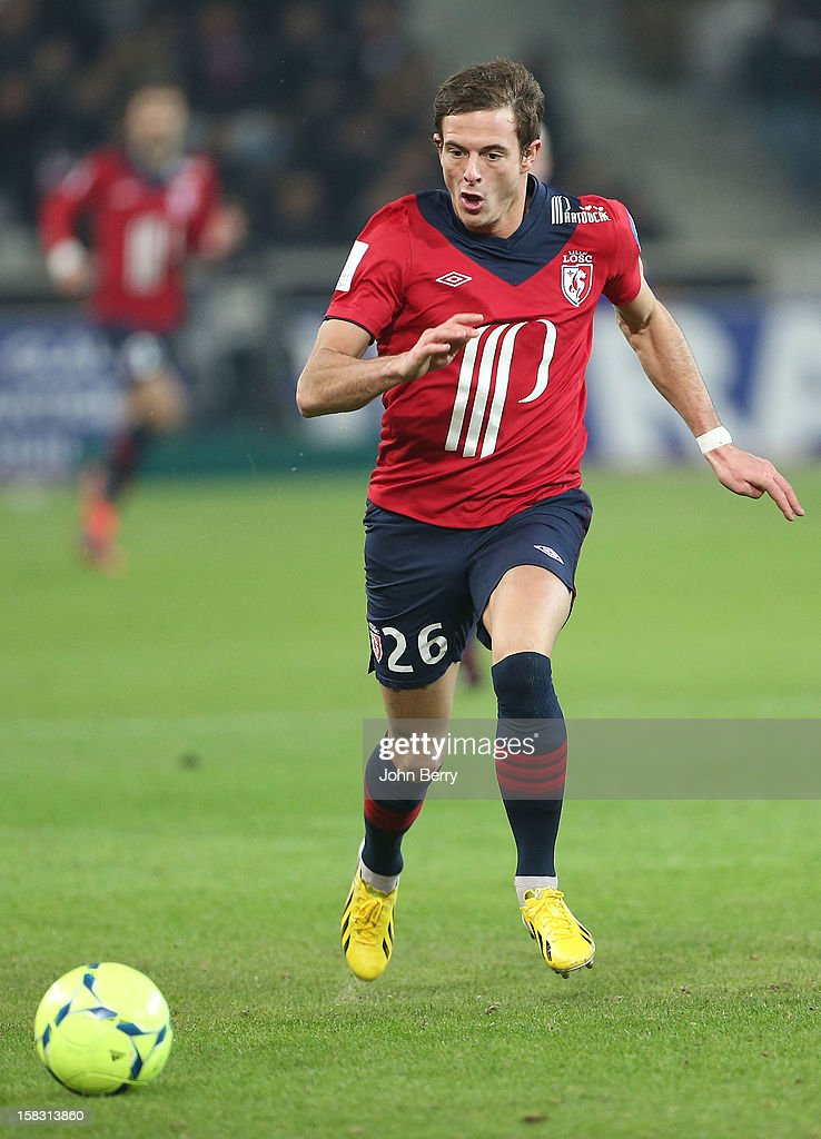 <a gi-track='captionPersonalityLinkClicked' href=/galleries/search?phrase=Nolan+Roux&family=editorial&specificpeople=5969784 ng-click='$event.stopPropagation()'>Nolan Roux</a> of LOSC during the French Ligue 1 match between Lille OSC and Toulouse FC at the Grand Stade Lille Metropole on December 11, 2012 in Lille, France.