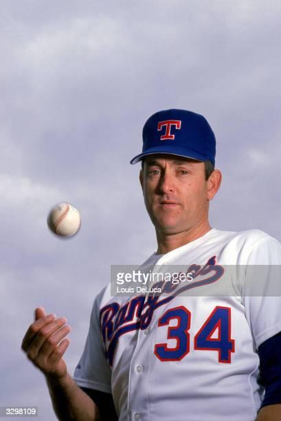 Nolan Ryan of the Texas Rangers poses for a photo circa 19891993
