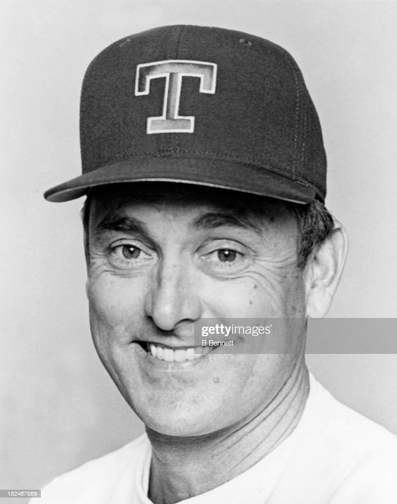 <a gi-track='captionPersonalityLinkClicked' href=/galleries/search?phrase=Nolan+Ryan&family=editorial&specificpeople=202212 ng-click='$event.stopPropagation()'>Nolan Ryan</a> #34 of the Texas Rangers poses for a portrait in March, 1991 at Pompano Beach Municipal Stadium in Pompano Beach, Florida.