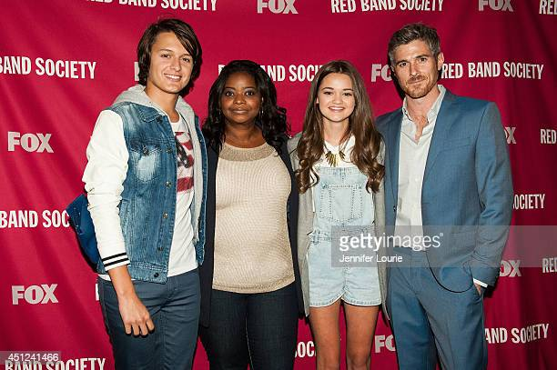 Nolan Sotillo Octavia Spencer Ciara Bravo and Dave Annable arrives at the FOX's 'Red Band Society' Special Screening and QA at the Landmark Nuart...