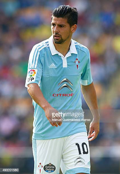 Nolito of Celta looks on during the La Liga match between Villarreal CF and RC Celta de Vigo at El Madrigal Stadium on October 18 2015 in Villarreal...