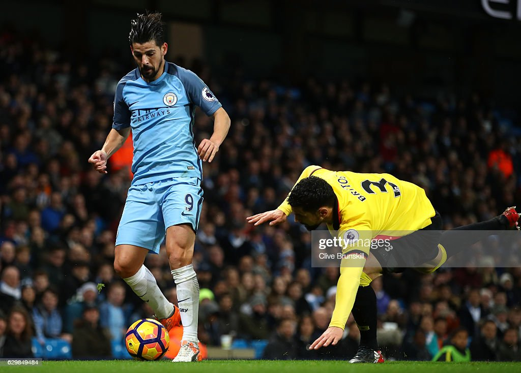 Image result for man city 2-0 watford nolito