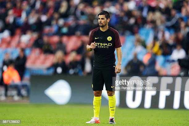 Nolito of Manchester City during the PreSeason Friendly between Arsenal and Manchester City at Ullevi on August 7 2016 in Gothenburg Sweden