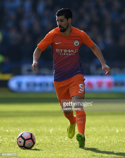 Nolito of Manchester City during the The Emirates FA Cup Fifth Round match between Huddersfield Town and Manchester City at John Smith's Stadium on...