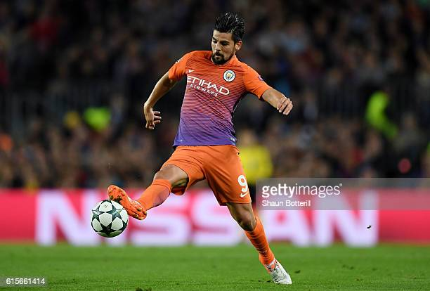 Nolito of Manchester City in action during the UEFA Champions League group C match between FC Barcelona and Manchester City FC at Camp Nou on October...