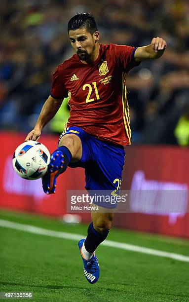Nolito of Spain in action during an International Friendly between Spain and England at the Estadio José Rico Pérez on November 13 2015 in Alicante...